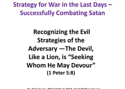 Recognizing the Evil Strategies of the Adversary
